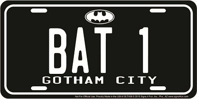 batman license plate